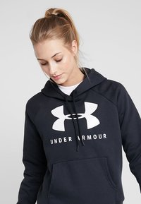 Under Armour - Felpa con cappuccio - black/onyx white - 3