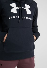 Under Armour - Felpa con cappuccio - black/onyx white - 4
