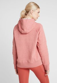 Under Armour - RIVAL LOGO HOODIE NOVELTY - Jersey con capucha - fractal pink medium heather/peach plasma - 2