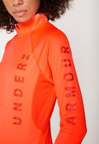 Under Armour - SPEED STRIDE SPLIT WORDMARK HALF ZIP - Treningsskjorter - peach plasma/coral dust/reflective - 3