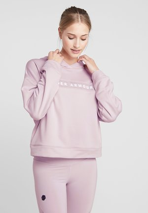 TECH HOODY - Sweat à capuche - pink fog/white