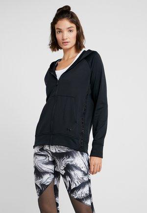TECH - Zip-up hoodie - black