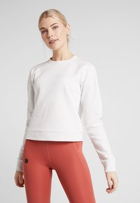 Under Armour - RECOVERY SCRIPT CREW - Sweatshirt - onyx white - 0