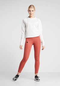 Under Armour - RECOVERY SCRIPT CREW - Sweatshirt - onyx white - 1