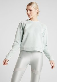 Under Armour - RECOVERY SCRIPT CREW - Sweater - green medium heather/onyx white - 0