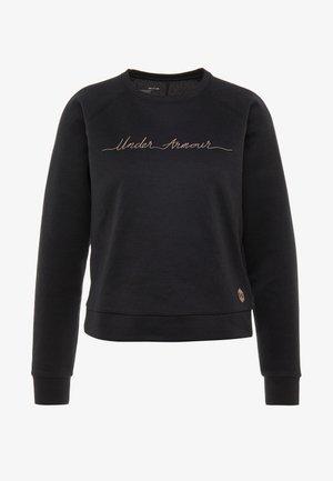 RECOVERY SCRIPT CREW - Sweatshirt - black/blush beige