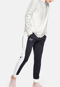 Under Armour - RIVAL - Fleecová bunda - onyx white - 0