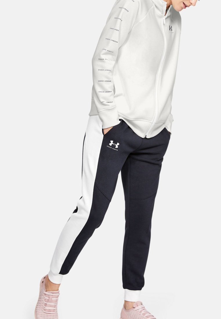 Under Armour - RIVAL - Fleecová bunda - onyx white