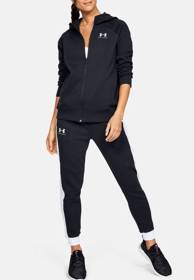 Under Armour - RIVAL - Fleecejacke - black