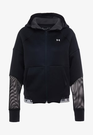 MOVE FULL ZIP HOODIE  - Verryttelytakki - black/onyx white