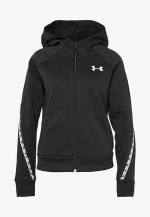 TAPED - Zip-up hoodie - black/onyx white