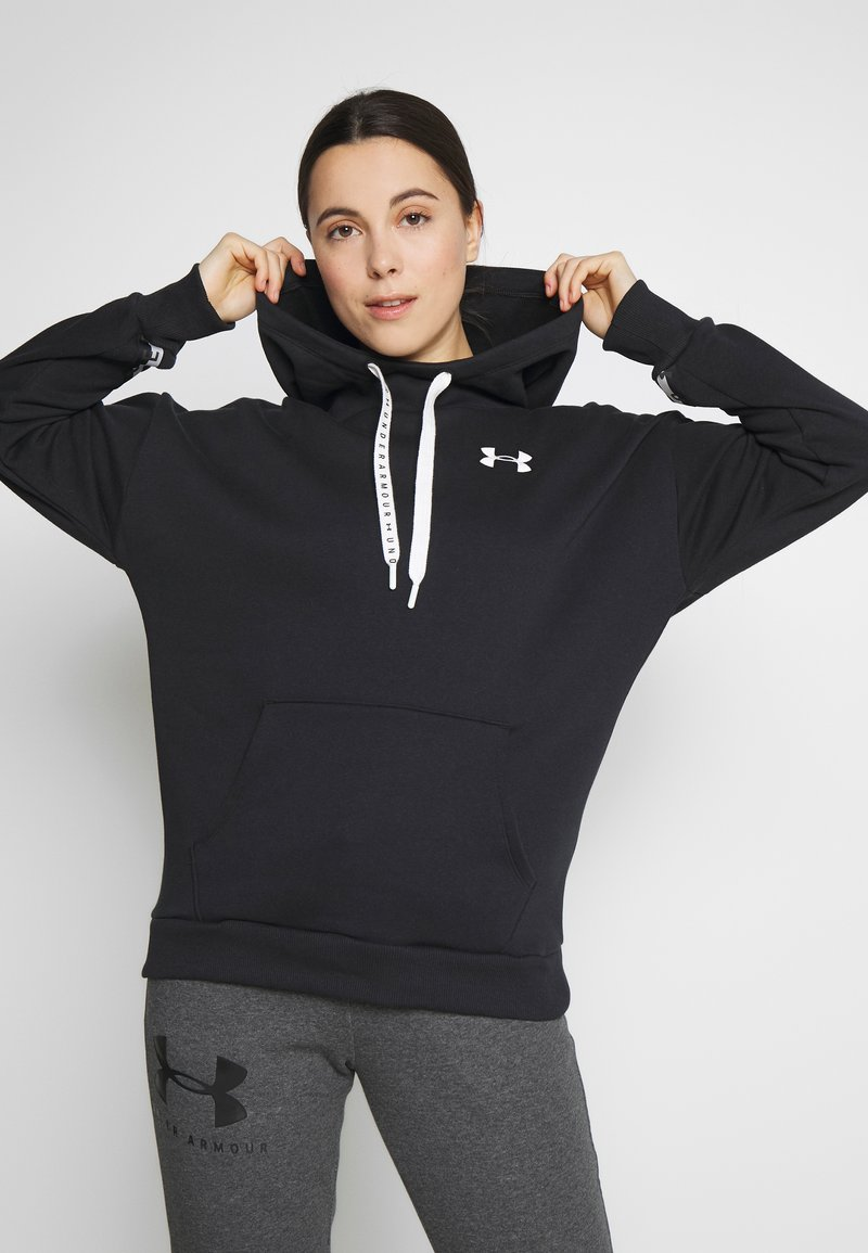 Under Armour - HOODIE TAPED - Mikina s kapucí - black/onyx white