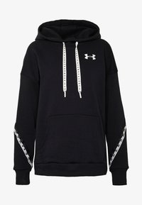 Under Armour - HOODIE TAPED - Mikina s kapucí - black/onyx white - 4