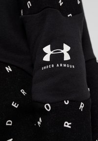 Under Armour - RIVAL HOODIE - Mikina s kapucí - black/onyx white - 6