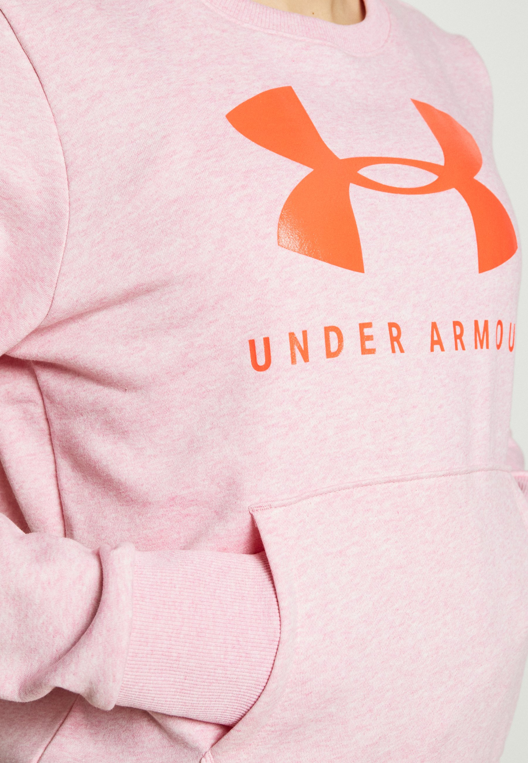Under Armour Rival Fleece Sportstyle Graphic Crew - Sweatshirt Lipstick Medium Heather/beta