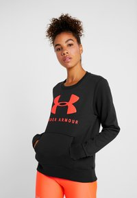 Under Armour - RIVAL SPORTSTYLE GRAPHIC CREW - Sweatshirt - black/beta red - 0