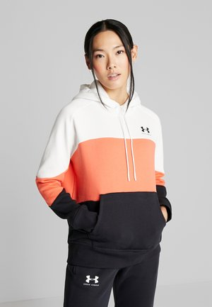 RIVAL FLEECE COLOR BLOCK HOODIE - Huppari - onyx white/beta/black