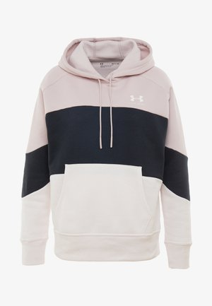 RIVAL FLEECE COLOR BLOCK HOODIE - Hoodie - dash pink/black/french gray