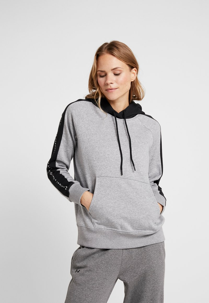 Under Armour - RIVAL GRAPHIC HOODIE NOVELTY - Hoodie - grey
