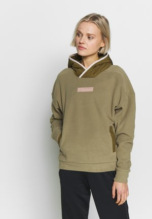 POLAR HOODIE - Forro polar - green/red