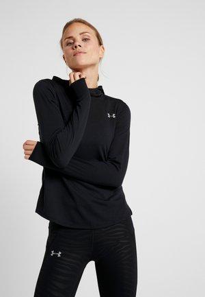 STREAKER LONG SLEEVE HOODIE - Sports shirt - black