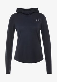 Under Armour - STREAKER LONG SLEEVE HOODIE - Funkční triko - black - 3