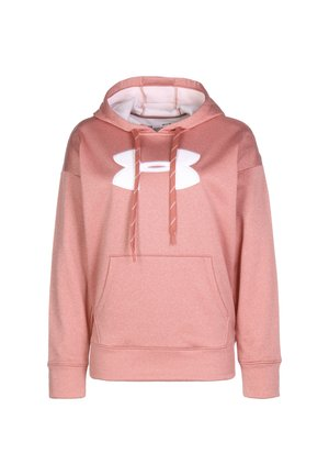 SYNTHETIC FLEECE CHENILLE LOGO PO HOODIE - Jersey con capucha - fractal pink