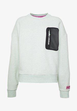 RIVAL CREW - Sweater - aqua foam/white/pink surge