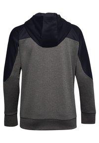 Under Armour - RECOVER KNIT FZ HOODIE - Zip-up hoodie - jet gray medium heather - 1