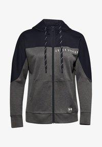 Under Armour - RECOVER KNIT FZ HOODIE - Zip-up hoodie - jet gray medium heather - 0
