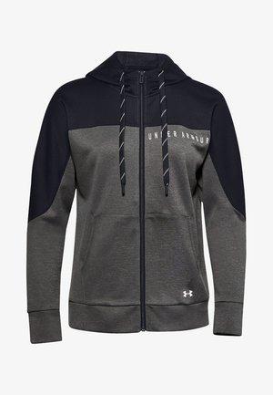 RECOVER KNIT FZ HOODIE - Zip-up hoodie - jet gray medium heather