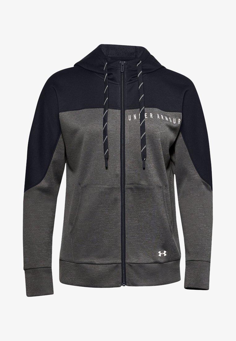 Under Armour - RECOVER KNIT FZ HOODIE - Zip-up hoodie - jet gray medium heather