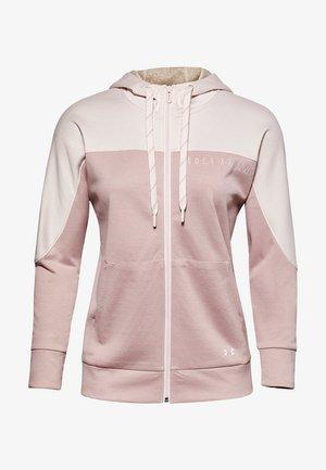 RECOVER KNIT FZ HOODIE - Zip-up hoodie - pink