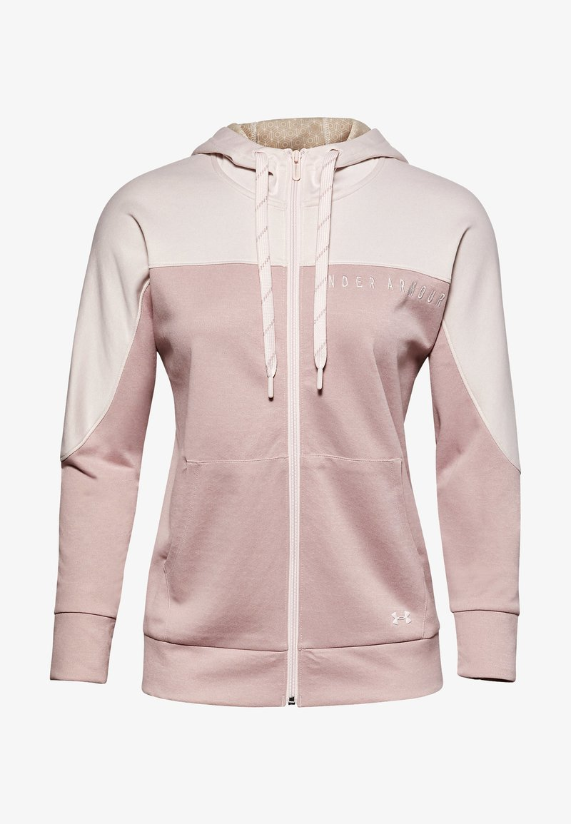 Under Armour - RECOVER KNIT FZ HOODIE - Zip-up hoodie - pink