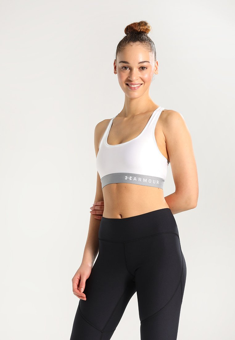 Under Armour - ARMOUR MID CROSSBACK BRA - Sports-BH - white
