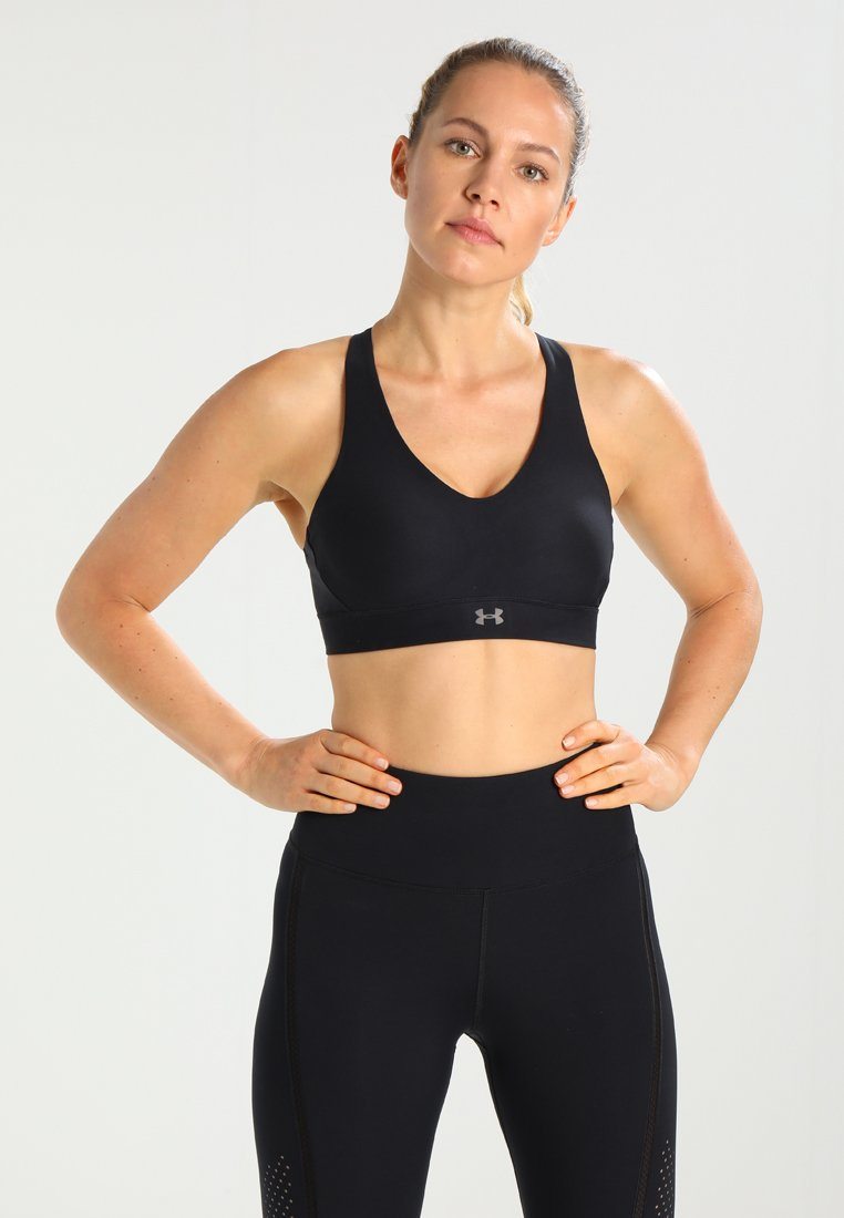 Under Armour - BALANCE MID - Sports bra - black