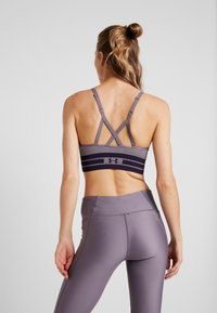 Under Armour - SEAMLESS LONGLINE BRA - Reggiseno sportivo - grey - 2