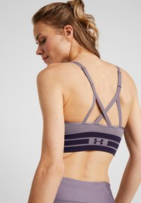 Under Armour - SEAMLESS LONGLINE BRA - Reggiseno sportivo - grey - 4