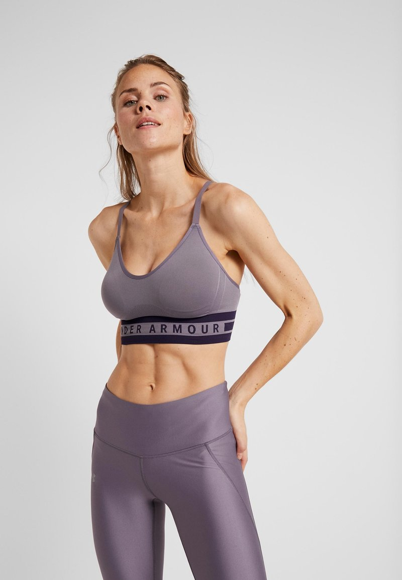 Under Armour - SEAMLESS LONGLINE BRA - Reggiseno sportivo - grey