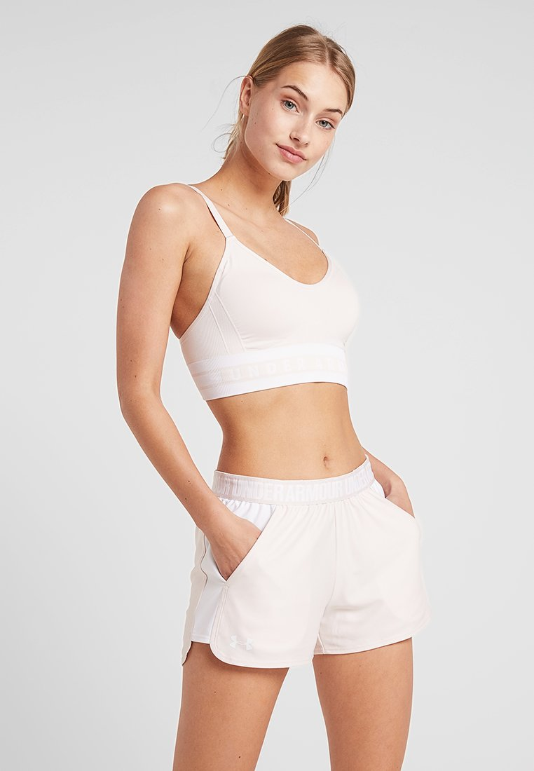 Under Armour - SEAMLESS LONGLINE BRA - Sport BH - apex pink/white
