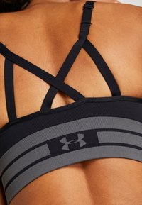 Under Armour - SEAMLESS LONGLINE BRA - Urheiluliivit - black - 5
