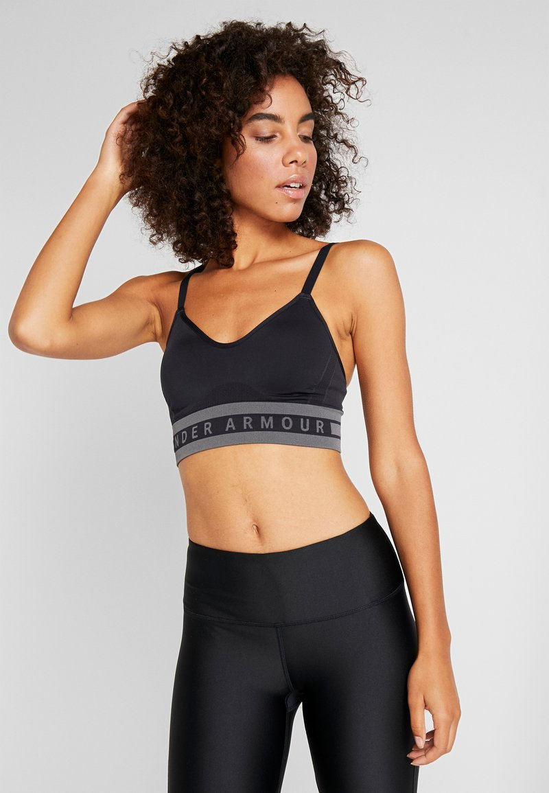 Under Armour - SEAMLESS LONGLINE BRA - Urheiluliivit - black
