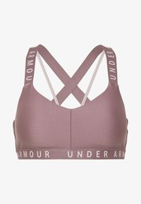 Under Armour - WORDMARK STRAPPY SPORTLETTE - Sports-BH - hushed pink/dash pink - 4