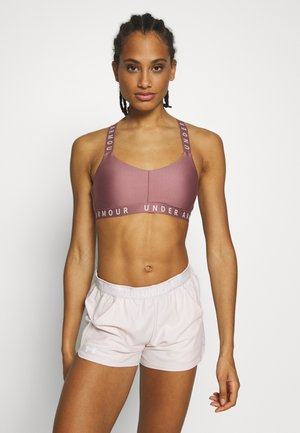 WORDMARK STRAPPY SPORTLETTE - Sports bra - hushed pink/dash pink