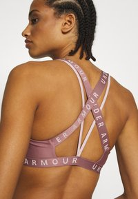Under Armour - WORDMARK STRAPPY SPORTLETTE - Sports-BH - hushed pink/dash pink - 5