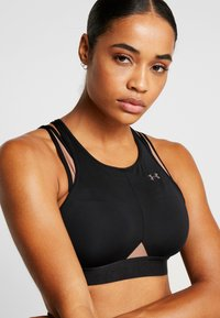 Under Armour - PERPETUAL BRA - Soutien-gorge de sport - black/blush beige/metallic cristal gold - 3