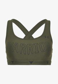 Under Armour - PROJECT ROCK MID CROSSBACK BRA WARRIOR - Sportovní podprsenka - guardian green/black - 4