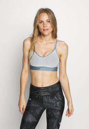 INFINITY LOW BRA - Sports-bh'er - halo gray/hushed turquoise/radial turquoise