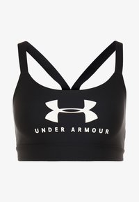 Under Armour - ARMOUR MID SPORTSTYLE GRAPHIC BRA - Urheiluliivit - black/white