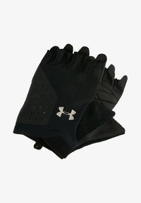 Under Armour - TRAINING GLOVE - Fingerless gloves - black/silver - 1